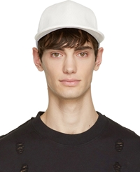 D By D White Perforated Leather Look Cap
