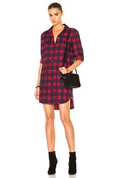 Atm Anthony Thomas Melillo Flannel Dress In Red Checkered And Plaid Red Checkered And Plaid