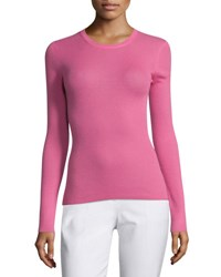 Michael Kors Long Sleeve Cashmere Sweater Peony Pink