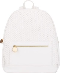 Deux Lux Chevron Woven Backpack White