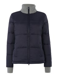 Oui Quilted Jacket Knit Navy