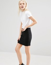 Cheap Monday Ribbed High Neck T Shirt With Cut Out Back White