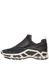 Cinzia Araia Micro Mesh And Leather Sneakers