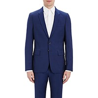 Paul Smith Ps By Men's Plain Weave Two Button Sportcoat Blue