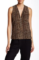 The Kooples Signature Silk Tank Beige