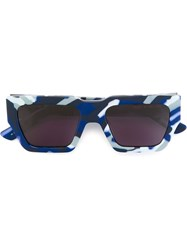 House Of Holland 'Finish Him' Sunglasses Blue