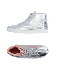 Drunknmunky Footwear High Tops And Trainers Women Silver