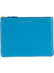 Comme Des Garcons Wallet Zipped Clutch Blue