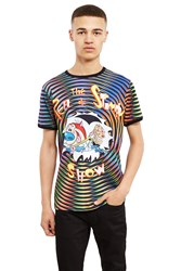 Jeremy Scott Ren And Stimpy Tee Black Multi