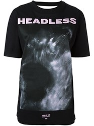 Hood By Air 'Headless' Open Back T Shirt Black