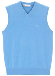 Jet 8 Light Blue Sleeveless Cashmere Jumper