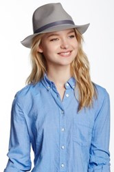 Phenix Short Brim Wool Fedora Gray