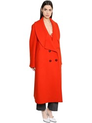 Stella Mccartney Oversized Felted Wool Coat