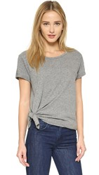 Current Elliott One Size Wrap Tee Heather Grey Tri Blend
