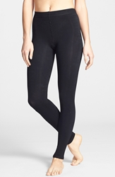 Donna Karan 'Luxe Layer' Leggings Black