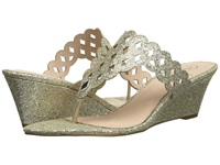 Adrianna Papell Cache Platino Chicago Glitter Women's Wedge Shoes Gold