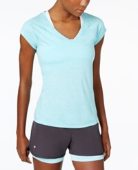 Ideology Rapidry Heathered T Shirt Only At Macy's Crystal Mist