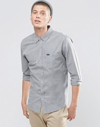 Brixton Shirt With Front Pocket In Regular Fit Grey