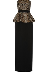 Raoul Patrina Embellished Jacquard And Crepe Gown
