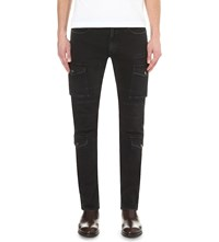 Belstaff Elbert Stretch Denim Cargo Trousers Black