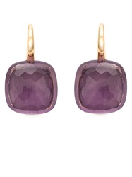 Pomellato Amethyst Drop Earrings Pink And Purple