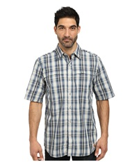 Carhartt Force Mandan Plaid S S Shirt Dark Blue Men's Short Sleeve Button Up