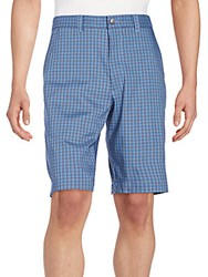 Callaway Plaid Check Shorts Blue