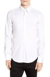 Theory Men's 'Sylvain' Trim Fit Long Sleeve Sport Shirt White