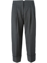 Antonio Marras Pleated Cropped Trousers Grey
