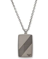 Emporio Armani Men's Stainless Steel Rounded Dog Tag Necklace Egs2027