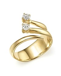 Bloomingdale's Diamond Multi Band Two Stone Wrap Ring In 14K Yellow Gold .25 Ct. T.W.