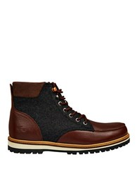 Lacoste Montbard Leather Chukka Boots Dark Brown