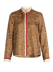 Max Mara Muscari Shirt Brown Print
