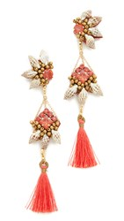 Deepa Gurnani By Caia Earrings Coral