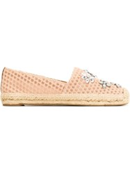 Tory Burch Embellished Espadrilles Pink And Purple