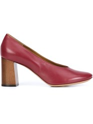 Chloe Almond Toe Pumps Red