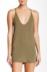Riller And Fount Joseph Spaghetti Racerback Layering Tank Green