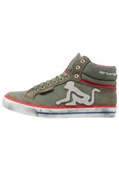Drunknmunky Boston Hightop Trainers Olive
