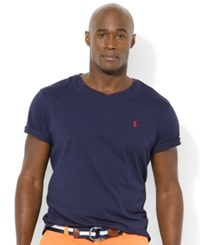Polo Ralph Lauren Big And Tall Classic Fit V Neck Short Sleeve Cotton Jersey T Shirt