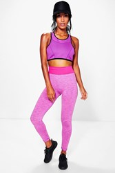 Boohoo Bright Fitted Leggings Purple