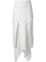 Kitx 'Layered Folded Squares' Skirt White