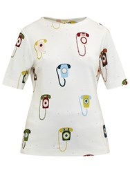 Ted Baker Colour By Numbers Koanna Telephone Print Top Ivory