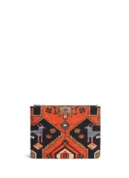 Givenchy Persian Carpet Print Wool Zip Pouch Black