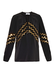 Altuzarra Torrin Sequin Embroidered Silk Top