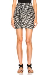 Etoile Isabel Marant Wilma Chic Check Skirt In Black Checkered And Plaid Black Checkered And Plaid