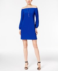 Inc International Concepts Petite Off The Shoulder Dress Only At Macy's Goddess Blue