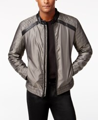 Guess Men's Victor Casual Quilted Jacket Toffee Multi