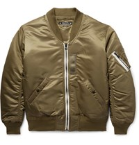 Sasquatchfabrix. Embroidered Atin Bomber Jacket Army Green