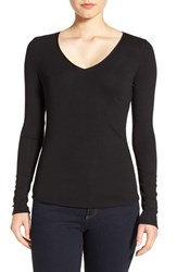 Nordstrom Women's Collection Rib Knit V Neck Top