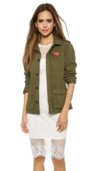 Maison Scotch Summer Military Jacket Army